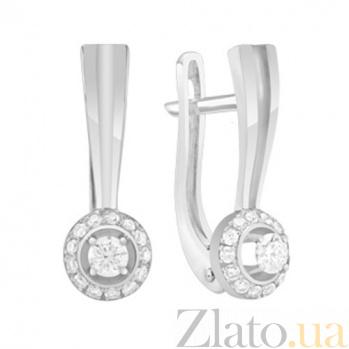 Золотые серьги с бриллиантами Элла KBL--С2618/бел/брил