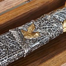 Подарочный серебряный нож Охота