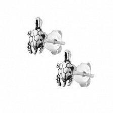 Серебряные серьги Черепашки