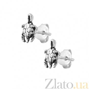 Серебряные серьги Черепашки SLX--С5/026