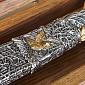 Подарочный серебряный нож Охота 1158