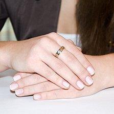 Обручальное кольцо Волшебная вязь из красного золота