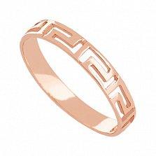 Золотое кольцо Греческий орнамент