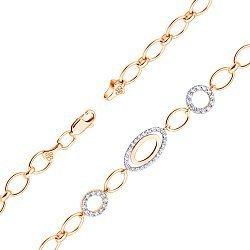 Золотой браслет с кристаллами циркония 000101609