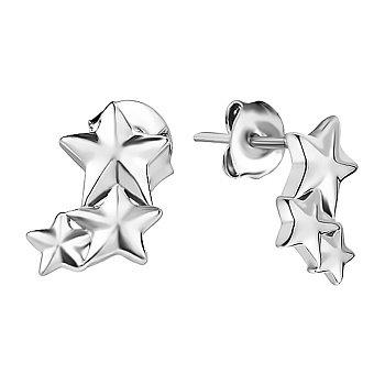 Серебряные серьги-пуссеты в стиле минимализм 000130373