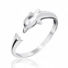 Серебряное кольцо Дельфин