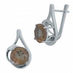 Серебряные серьги с султанитами 000128692