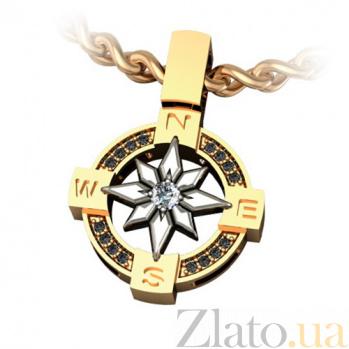 Золотой подвес с бриллиантами Попутный ветер KBL--П081/комб/брил