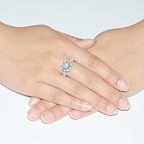 Золотое кольцо с белым цирконием Иланна