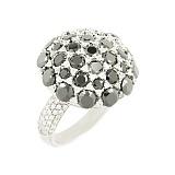 Серебряное кольцо с фианитами Индира