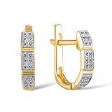 Золотые серьги Антония с бриллиантами