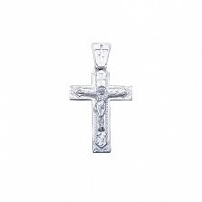 Серебряный крест родированный Светлое воскресенье