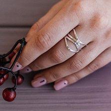 Серебряное кольцо Волшебство волн с ажурной широкой шинкой