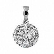 Кулон из белого золота Финляндия с бриллиантами