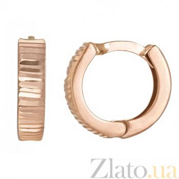 Серьги-кольца в красном золоте Стелла 24427/5гр