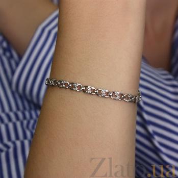 Серебряный браслет с бриллиантами Степ ZMX--BCD-1001-Ag_K