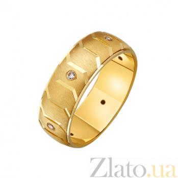 Золотое обручальное кольцо Образ с наческой и фианитами TRF--432728