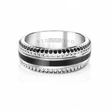 Золотое кольцо с эмалью, топазами и шпинелью Глубины духа