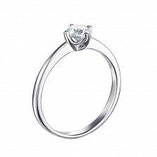 Серебряное кольцо Мелисса с кристаллом Swarovski