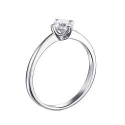 Серебряное кольцо с цирконием Swarovski  000119306
