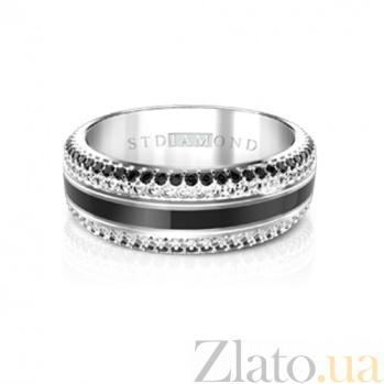 Золотое кольцо с эмалью, топазами и шпинелью Глубины духа 000029782