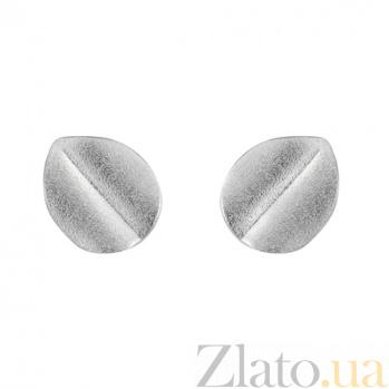 Сережки-гвоздики из белого золота Амина SVA--2001167102/Без вставки