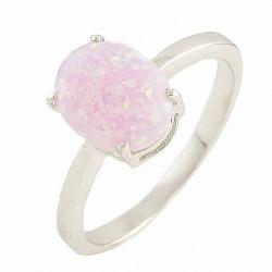 Серебряное кольцо Полин с розовым опалом