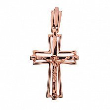 Золотой православный крест Спаситель