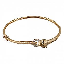 Браслет из желтого золота с бриллиантами Пантера 000038160