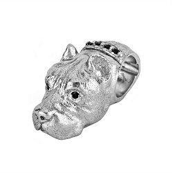 Серебряный кулон-шарм Стафф с черным цирконием 000052144