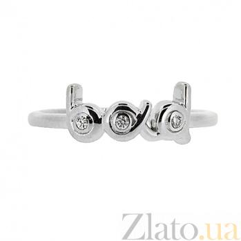 Серебряное кольцо с бриллиантами Bad ZMX--RD-6934-Ag_K