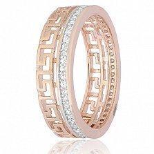 Позолоченное серебряное кольцо My Way с цирконием
