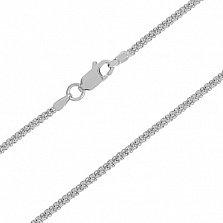 Серебряная цепочка Пасадена с родием, 1 мм, 50 см