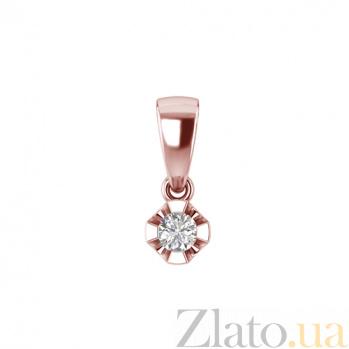 Золотой подвес в красном цвете с бриллиантом Сириус 000030722