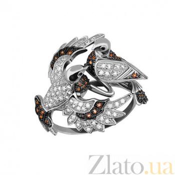 Золотое кольцо Посланники мира с фианитами VLT--ТТ1081