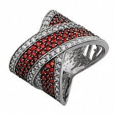 Серебряное кольцо Партенит гранат
