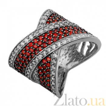 Серебряное кольцо Партенит гранат 162360