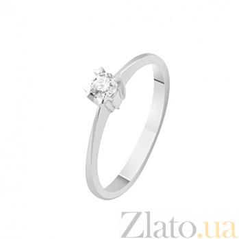 Помолвочное кольцо с бриллиантом Единственная KBL--К1880/бел/брил