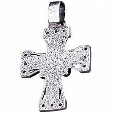 Серебряный крест Святой Лик с чернением