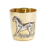 Серебряный стакан Лошадь