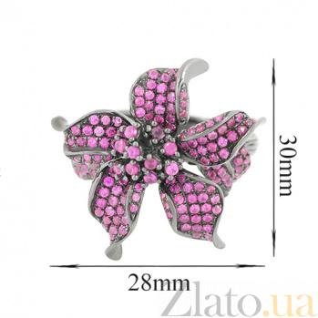 Серебряное кольцо с фианитами Камария 3К291-0032