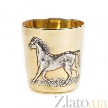 Серебряный стакан Лошадь 551