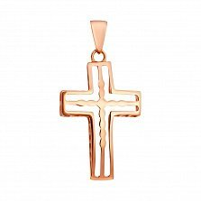 Крестик Чистая душа в красном золоте