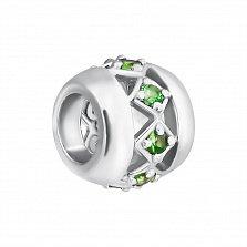Серебряная подвеска Blessing с зеленым гранатом