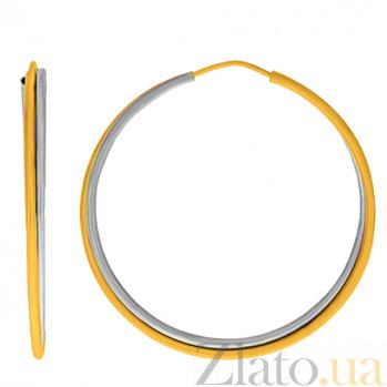 Серьги-конго из комбинированного золота Оливия 000023920