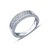 Серебряное кольцо с усыпкой из циркония Галактика