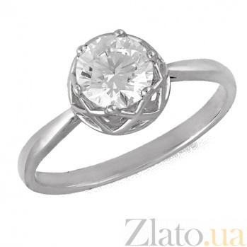 Кольцо в белом золоте Гайтана с фианитом 000022881