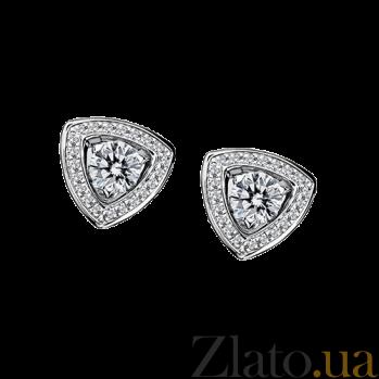 Серьги с бриллиантами в белом золоте с микро-паве Dream n Love E-BDL-W-diam-diam