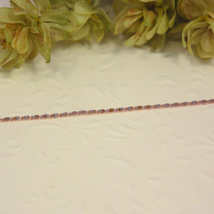 Золотой браслет Шион фантазийного плетения с насечкой, 1,5мм 000080767