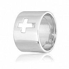 Кольцо из серебра Крестик